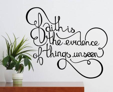 Faith wall decal sticker