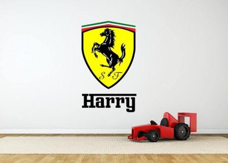 Ferrari logo personalised wall decal