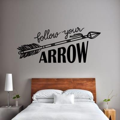 Follow your arrow wall decal