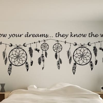 Dream catcher quote wall art decal