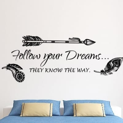 Follow your dreams wall decal