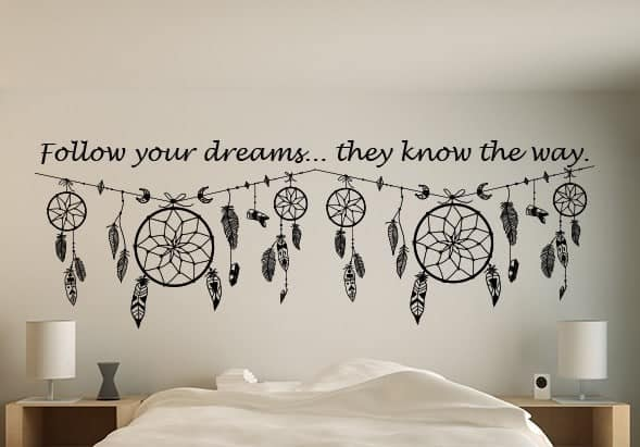 dream catcher quote wall art decal | dream catcher wall decal