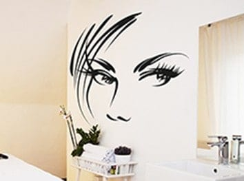 Add a touch of glamour with this beauty salon wall decal