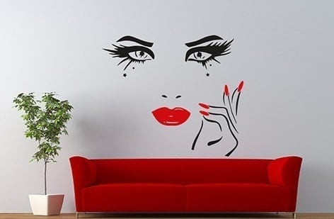 Beauty eyes wall decal sticker