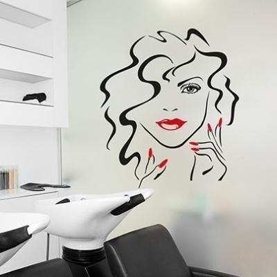Beauty face wall art decal