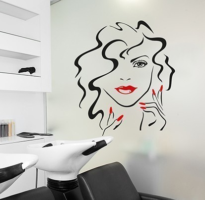 Beauty face wall art decal