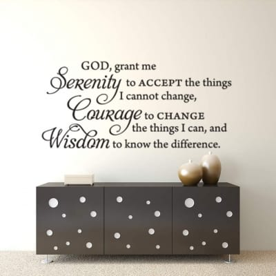 Serenity wall decal sticker | Serenity prayer wall decal sticker