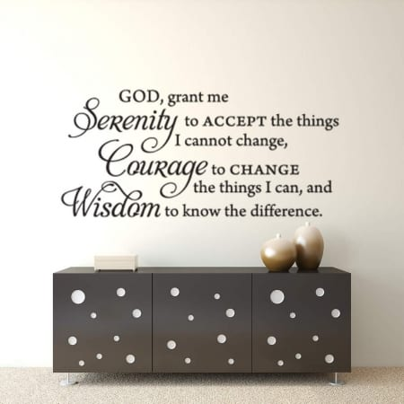 Serenity wall decal sticker | Serenity prayer wall decal sticker