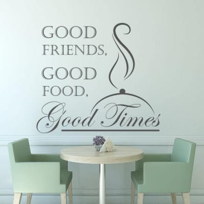 Good friends good food good times wall decal