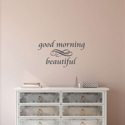 Good morning beautiful wall decal sticker