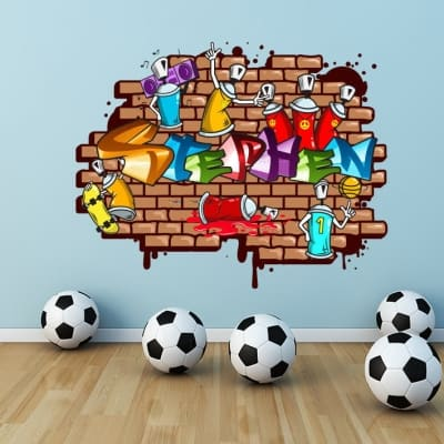 Graffiti personalised wall decal graphic