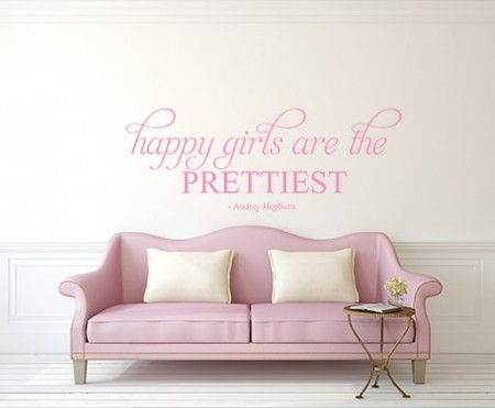 Happy girls are the Prettiest wall decal sticker