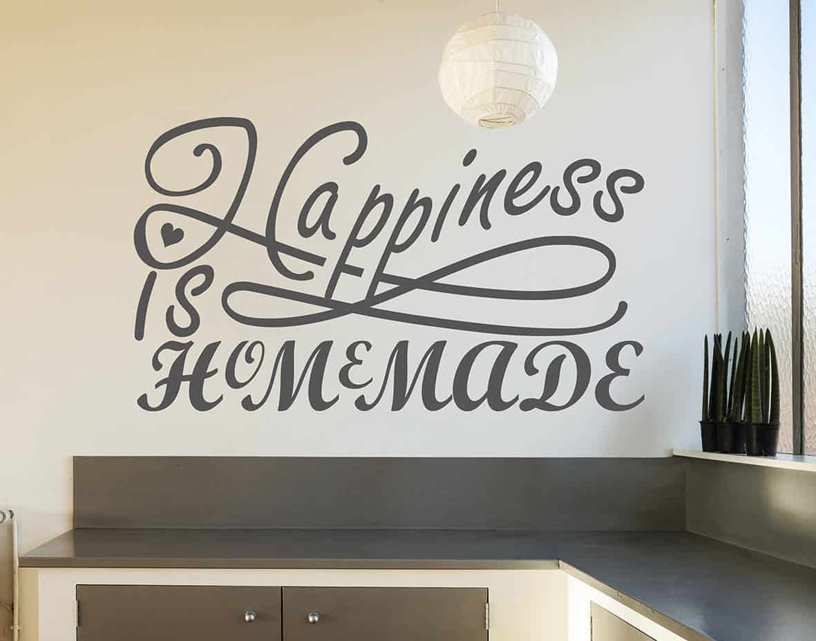 happiness is home made wall decal sticker