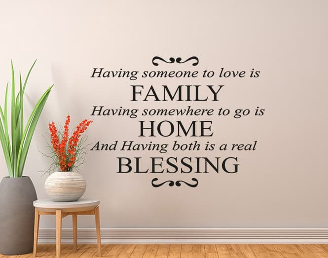 Family Home Blessing wall decal
