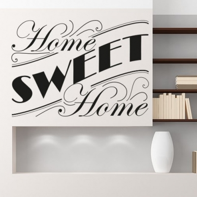 Home sweet home wall decal sticker