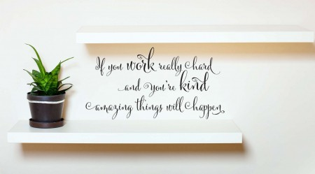 Amazing things will happen wall decal sticker