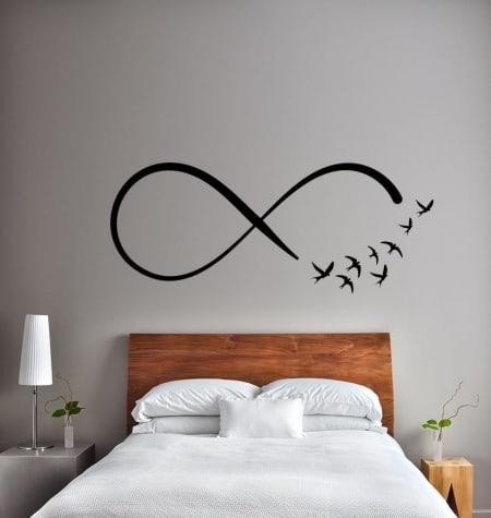 Infinity birds wall decal sticker