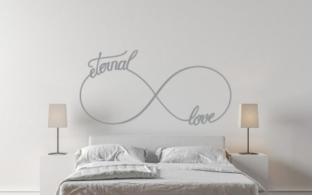 Infinity eternal love wall decal