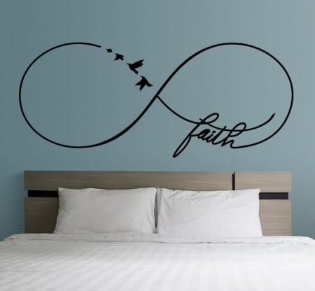 Infinity faith wall decal