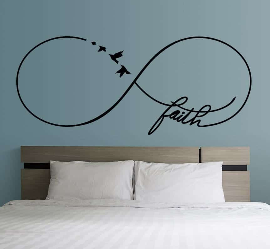 Infinity faith wall decal