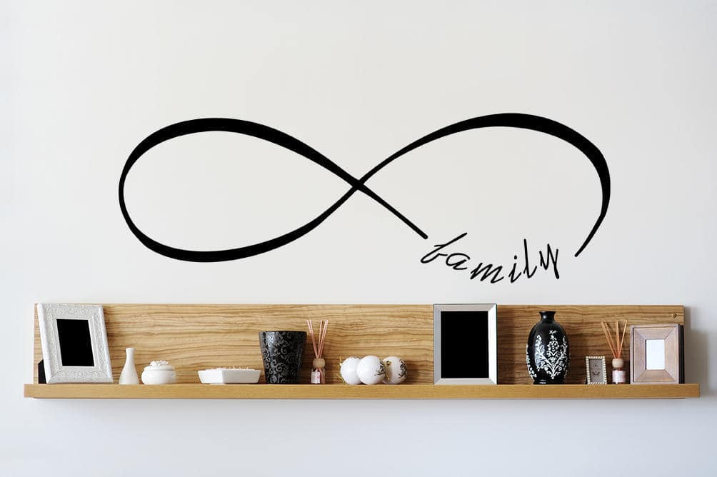 Infinity family wall decal
