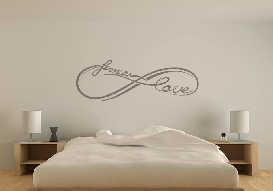 Infinity forever love wall decal