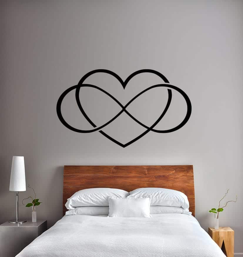 Infinity love heart wall decal