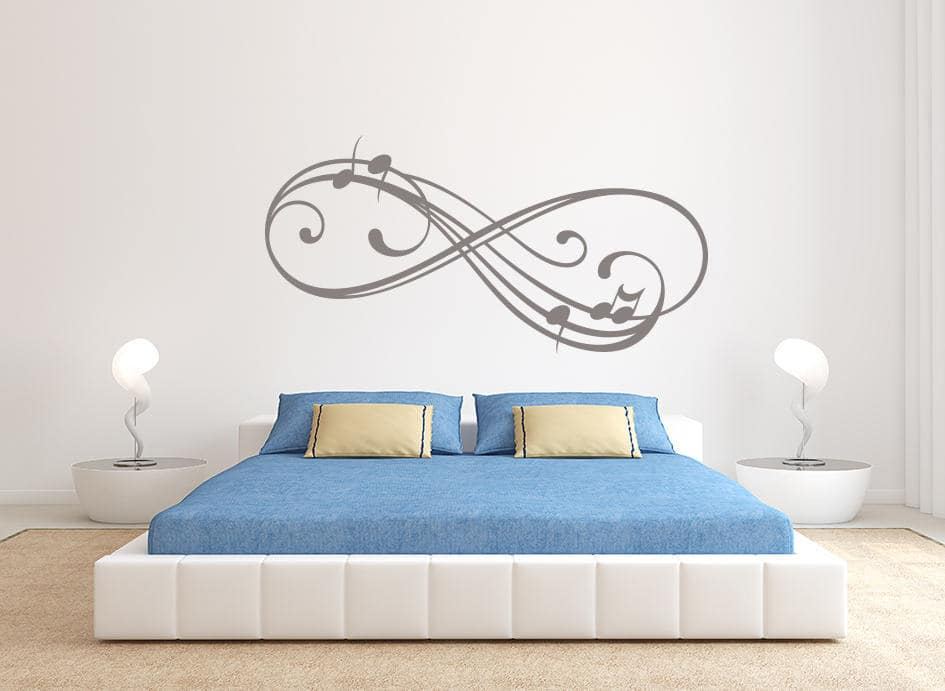 Infinity music wall decal