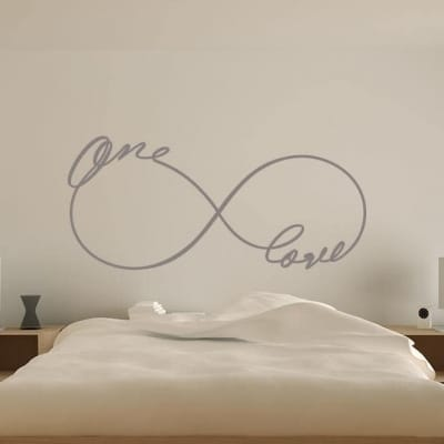 Infinity one love wall decal