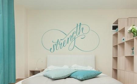 Infinity strength wall decal