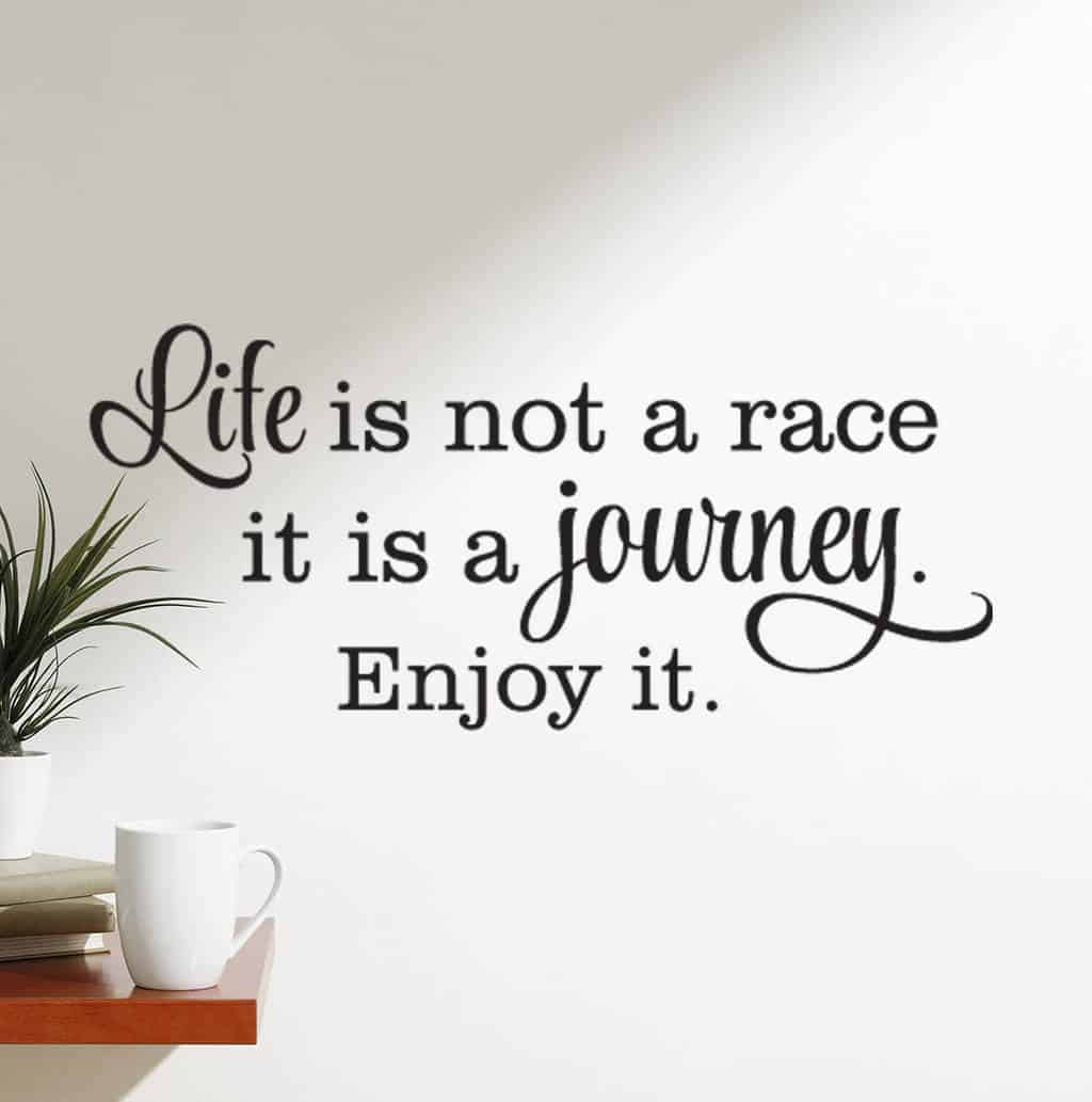 Life Is Not A Race Wall Decal Sticker Life Wall Decals