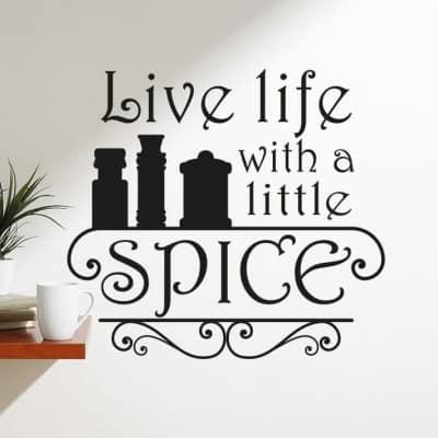 A little spice wall decal sticker