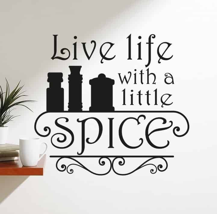 A little spice wall decal sticker