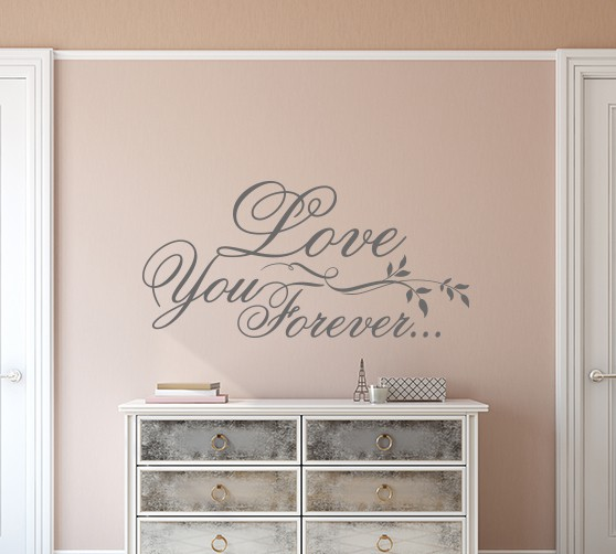 Love you forever wall decal sticker