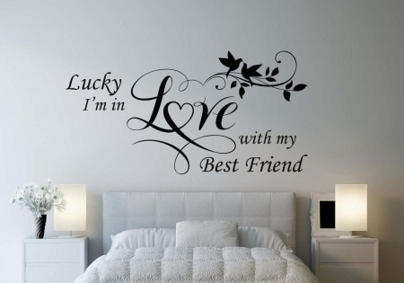 Lucky I'm in love with my best friend wall decal | love wall decals