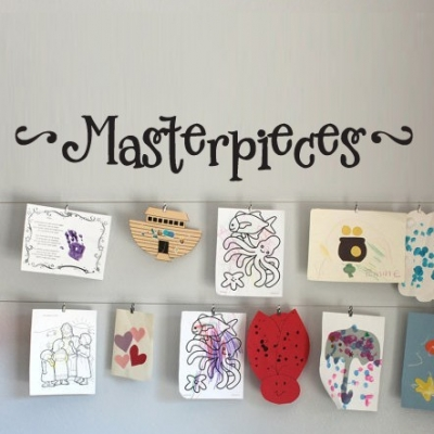 Masterpieces wall sticker