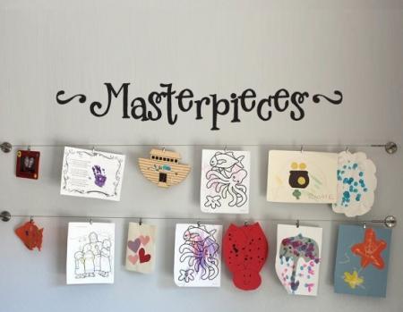 Masterpieces wall sticker