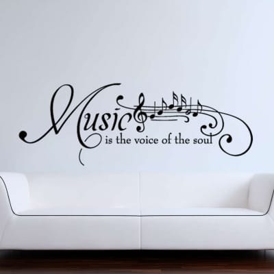 Music is the voice of the soul wall decal sticker