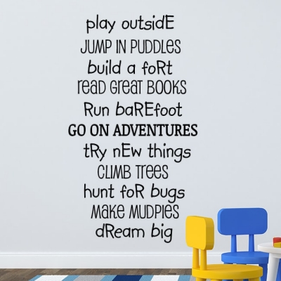 Play out side wall decal sticker