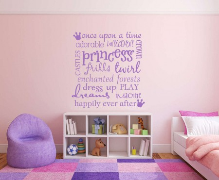 Princesses wall decal sticker