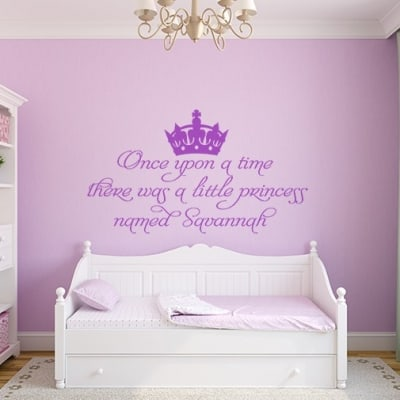 Once upon a time personalised wall decal sticker