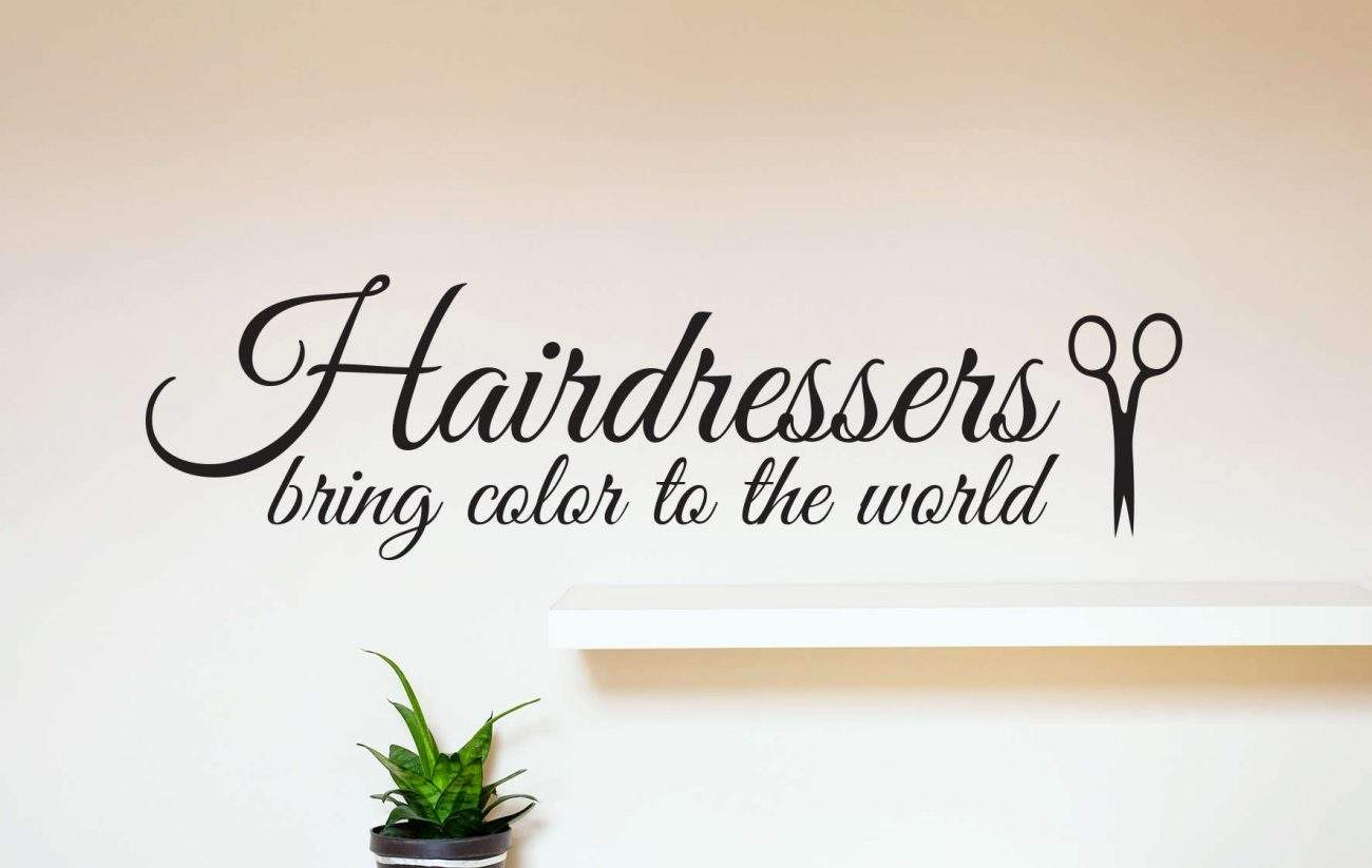 Hairdressers bring colour to the world wall decal sticker