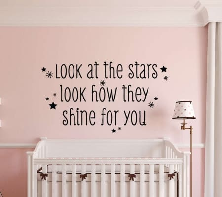 Look at the stars wall decal sticker
