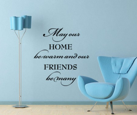 May our home be warm wall decal sticker