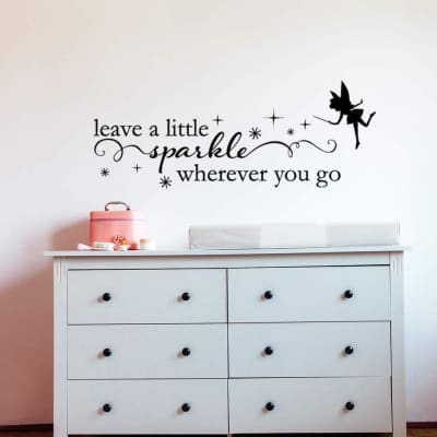 A little sparkle wall decal sticker | fairy wall decal sticker