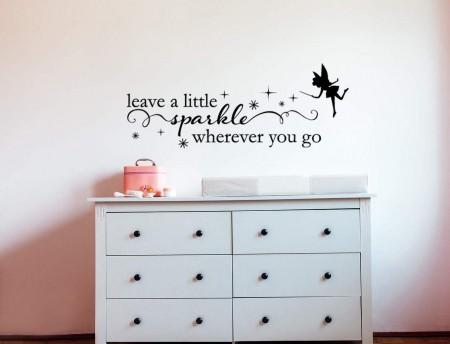 A little sparkle wall decal sticker | fairy wall decal sticker