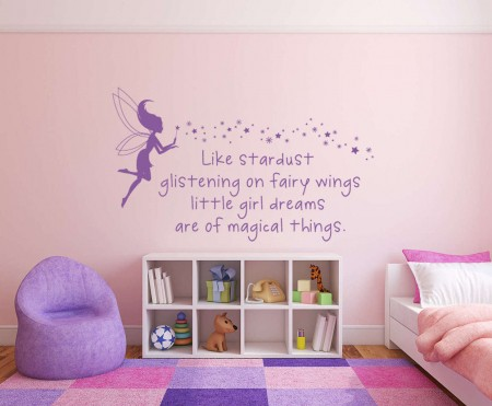 Little girls dreams are magical things wall decal sticker
