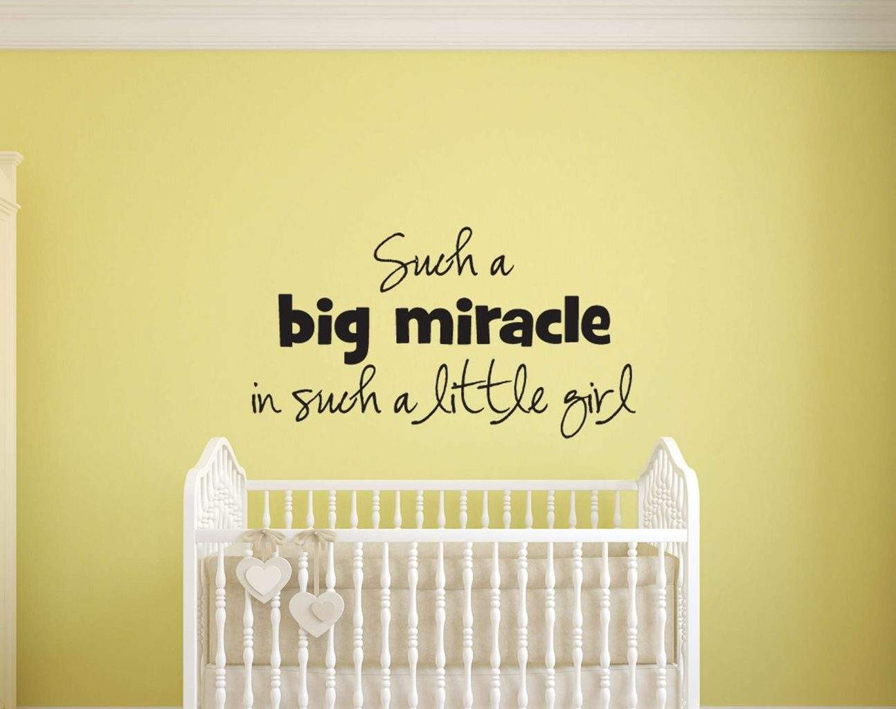 Such a big Miracle little girl wall decal sticker