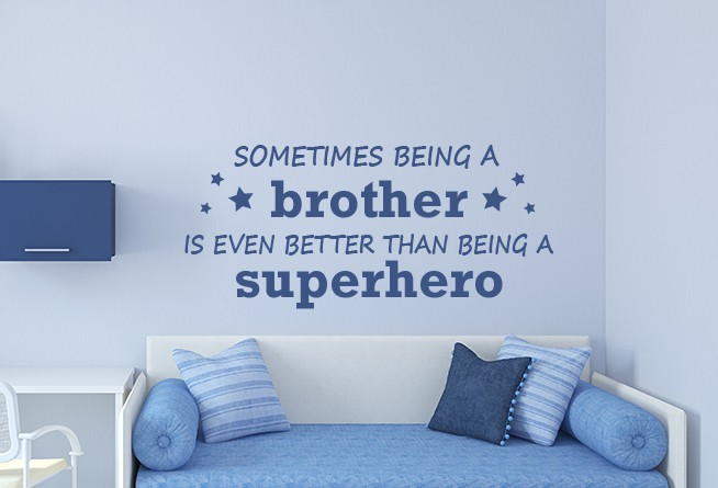 A brother wall decal sticker