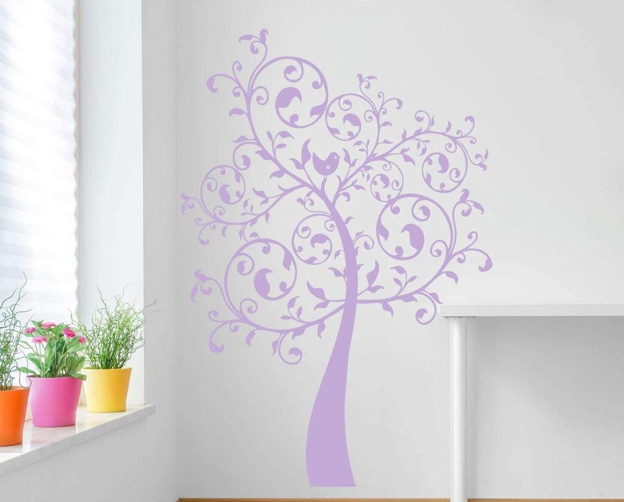 Swirl tree wall decal